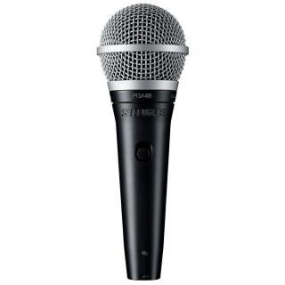 Microfone com Fio Shure PGA 48 LC Dinâmico Cardioide