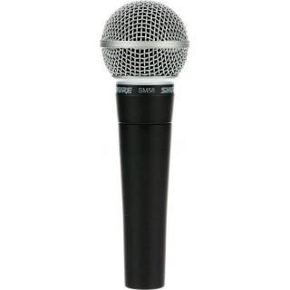 Microfone com Fio Shure SM 58 LC Dinâmico Profissional