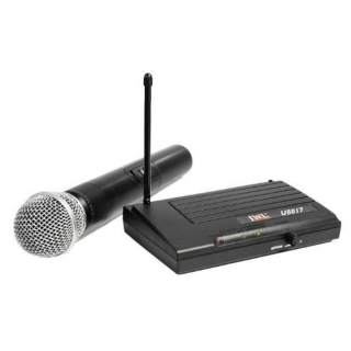 Microfone sem Fio JWL UHF U8017 1 Microfone