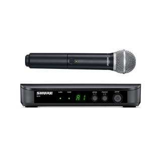 Microfone sem Fio Shure PG58 BLX24BR/PG58 Dinâmico Cardioide Preto