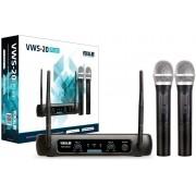 Microfone sem Fio Vokal VWS20 Plus 2 Microfones VHF