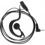 Fone para Rádio Comunicador Motorola Talkabout MOD MT01 com PTT Preto