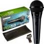 Microfone com Fio Shure PGA 58 LC Dinâmico Cardioide