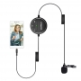 Microfone de Lapela Comica Sig.Lav V03 Omnidirecional para Smartphone DSLR