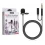 Microfone de Lapela Lavalier JH 043 A para Smartphone com Cabo P3 e Auxiliar para Fone