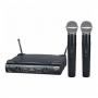 Microfone JWL sem fio 2 Microfones de Mão U585 UHF