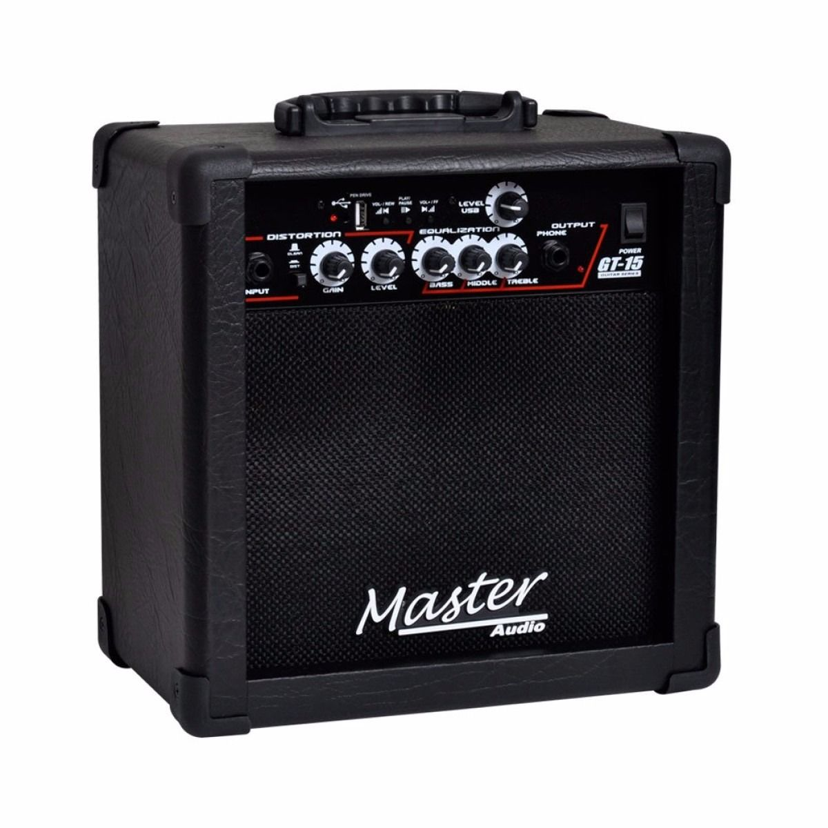 Amplificador Cubo Guitarra Master Gt15 15w Distorção