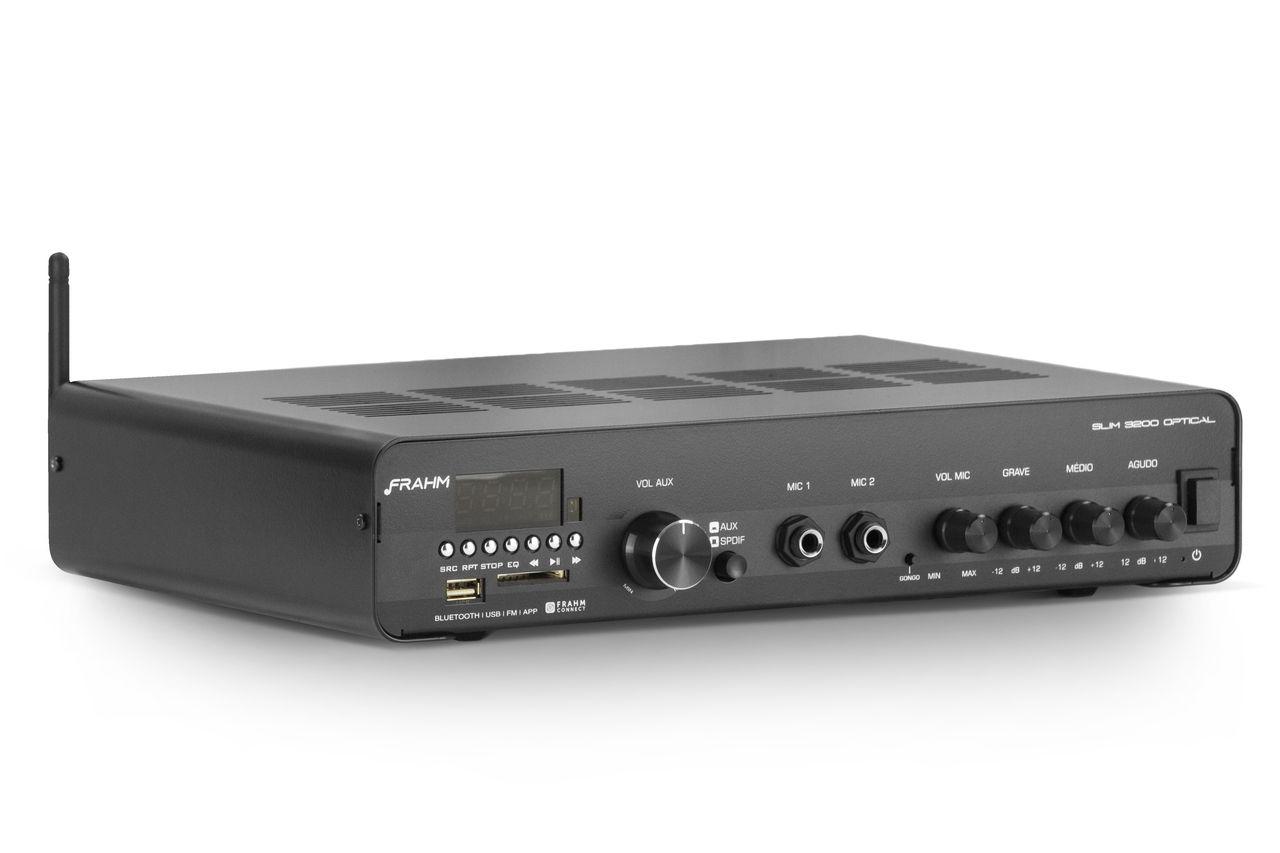 Amplificador de Áudio Hayonik Slim 3200 Optical 200 Watts RMS
