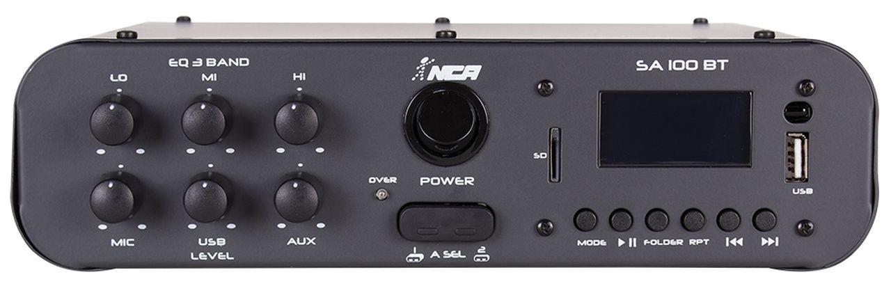 Amplificador de Áudio NCA SA100BTST Estéreo 100 Watts RMS Bluetooth