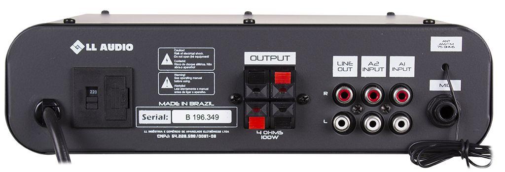 Amplificador de Áudio NCA SA100BT Mono 100 Watts RMS