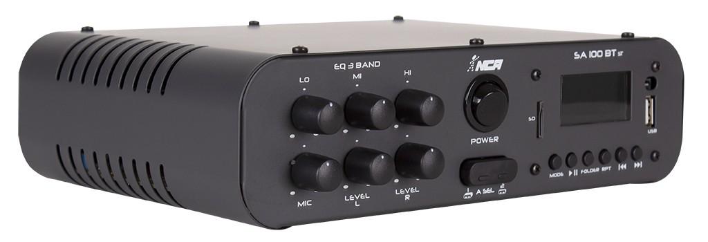 Amplificador de Áudio NCA SA100BTST Estéreo 60 Watts RMS Bluetooth