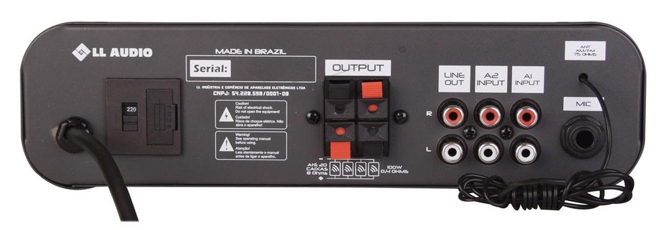 Amplificador de Áudio NCA SA20 100 Watts RMS com Congo