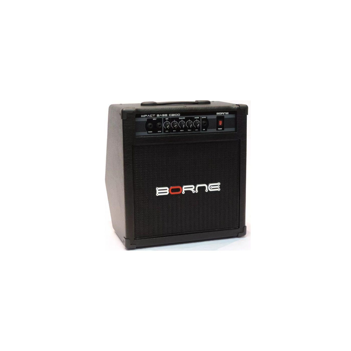 Amplificador de Contrabaixo Borne Impact Bass CB100 70 Watts RMS Preto