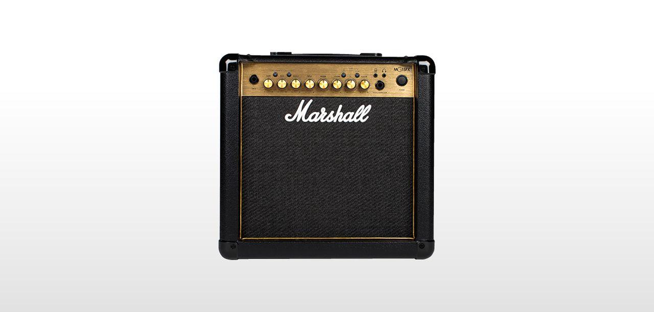 Amplificador de Guitarra Marshall MG15CFX Carbon Fiber Gold 15 Watts RMS