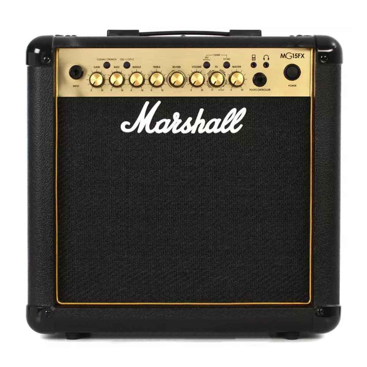 Amplificador de Guitarra Marshall MG15FX Carbon Fiber Gold 15 Watts RMS