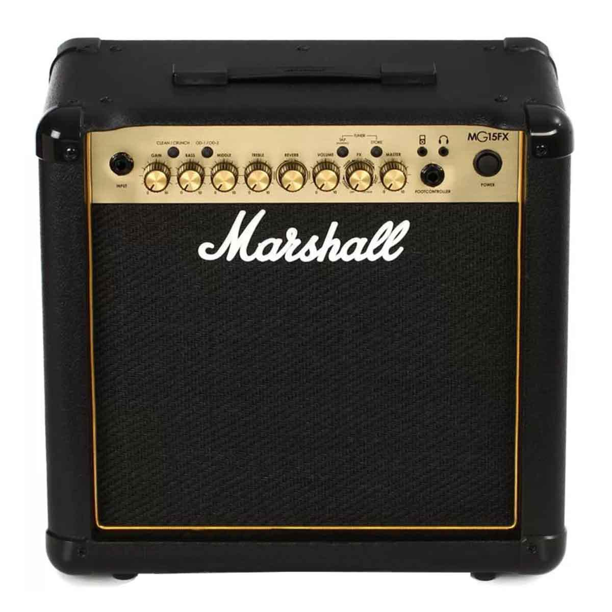 Amplificador de Guitarra Marshall MG15FX Carbon Fiber Gold 15 Watts RMS