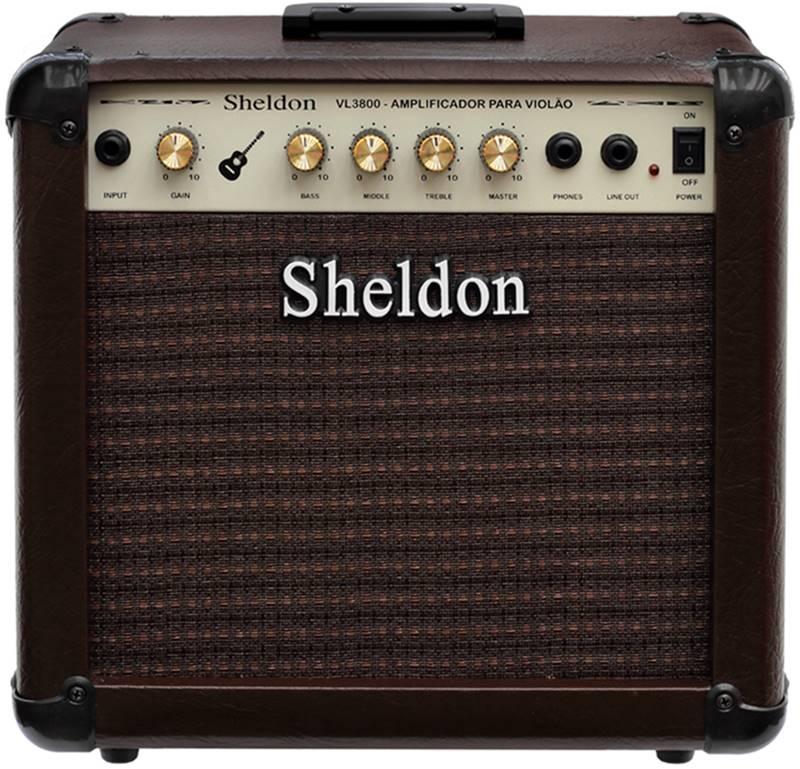 Amplificador de Violão Sheldon VL 3800 40 Watts RMS
