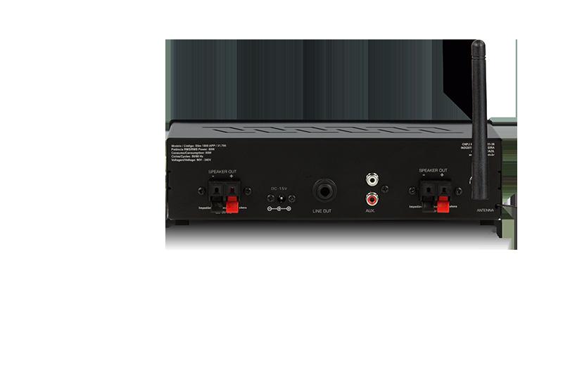 Amplificador Receiver Som Ambiente Frahm Slim 1500 APP 60W RMS