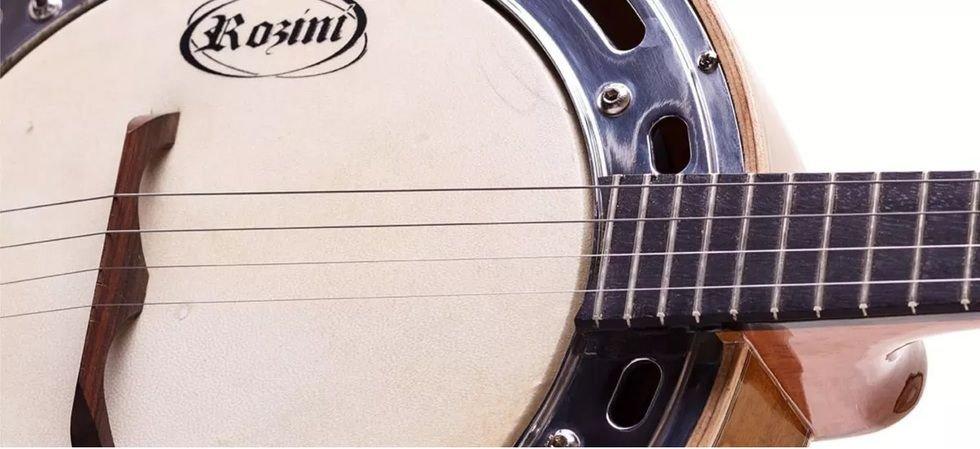 Banjo Rozini Estudio Elétrico Natural 4 Cordas Captação Capsula Leson