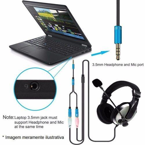 Cabo Adaptador P3 x 2 J2 (P2 Fêmea) para headset