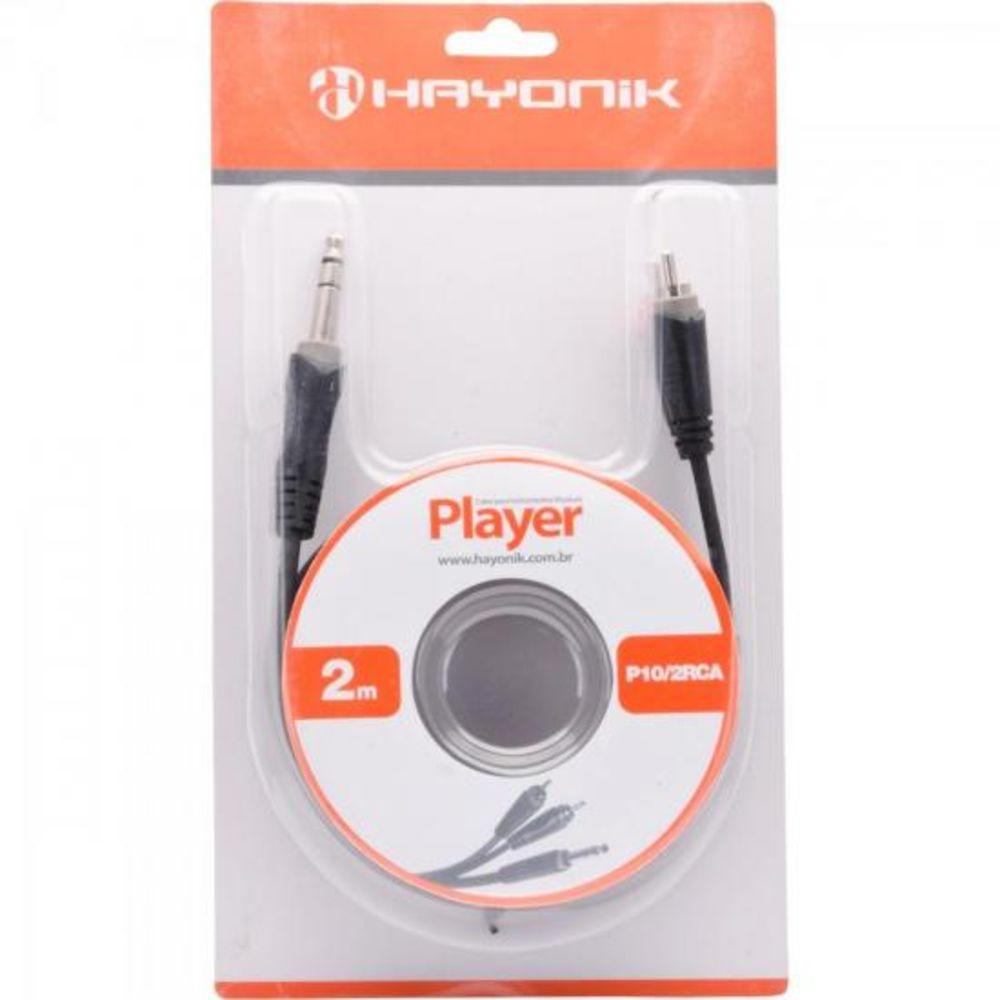 Cabo de Áudio Hayonik Player 1 P10 Estéreo / 2 RCA 2m