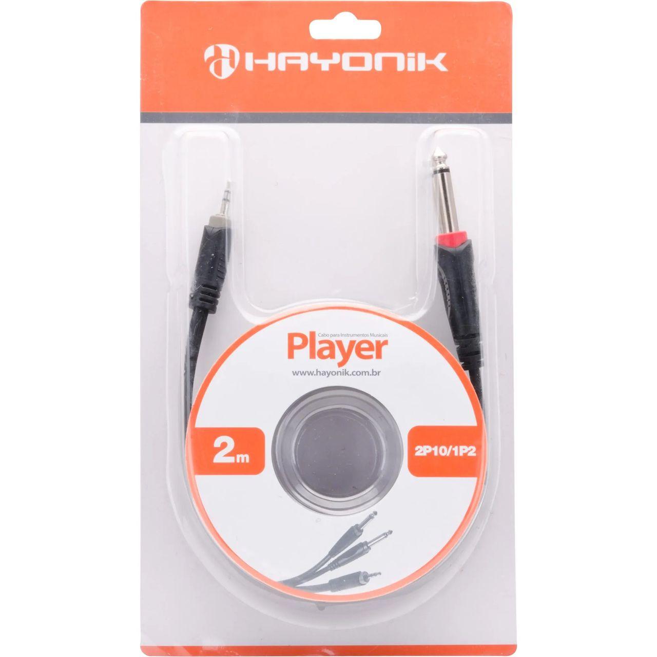 Cabo de Áudio Hayonik Player 2 P10 / 1 P2 2M