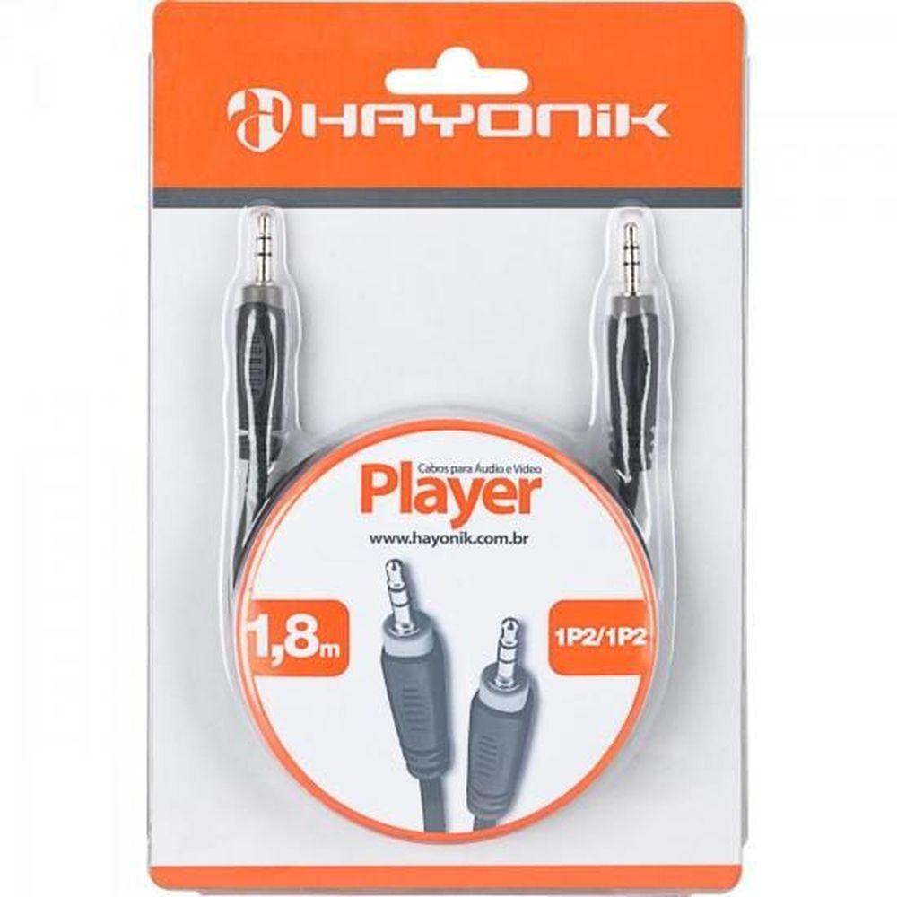 Cabo de Áudio Hayonik Player 1 P2 / P2 Estéreo 1,8M