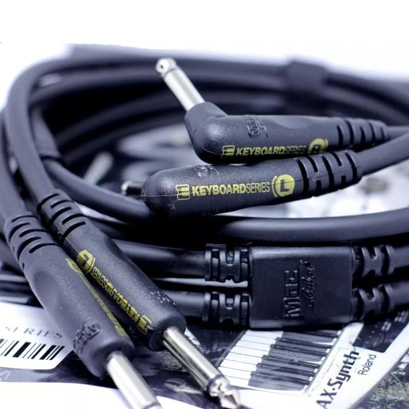 Cabo de Áudio MAC Cabos P10 + P10 Keyboard Duplo 2,13 Metros KBD07B