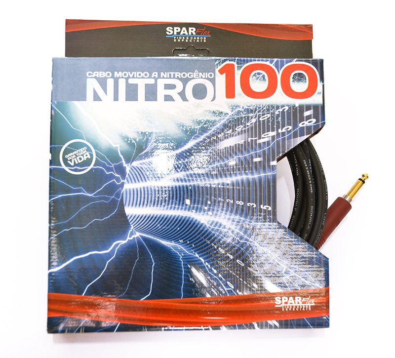 Cabo de Guitarra Sparflex P10 Nitro Guitar 100 Plug Noiseless 7 metros