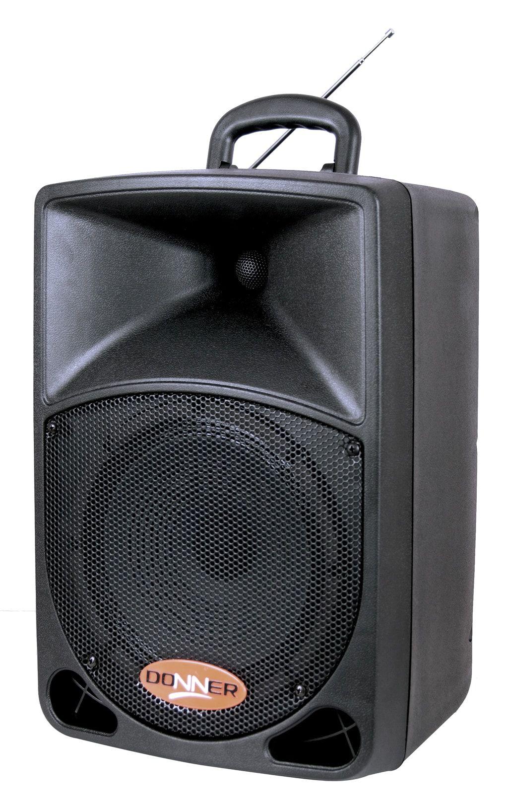 """Caixa Acústica Ativa 8"""" Donner DR08BAT 80W USB com Bateria e Microfone sem fio"""