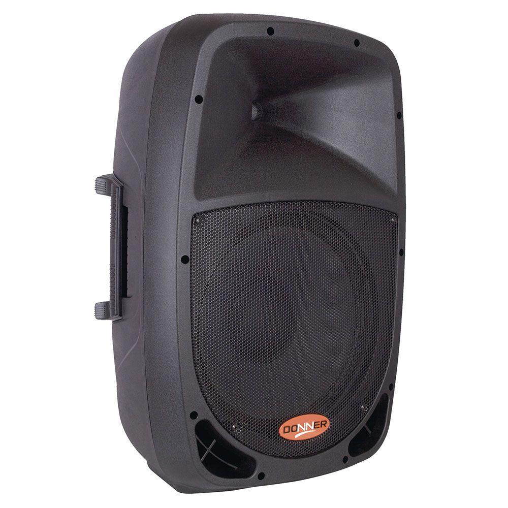 """Caixa Acústica Ativa 8"""" Donner DR808a Bluetooth SD 80W RMS Preto"""