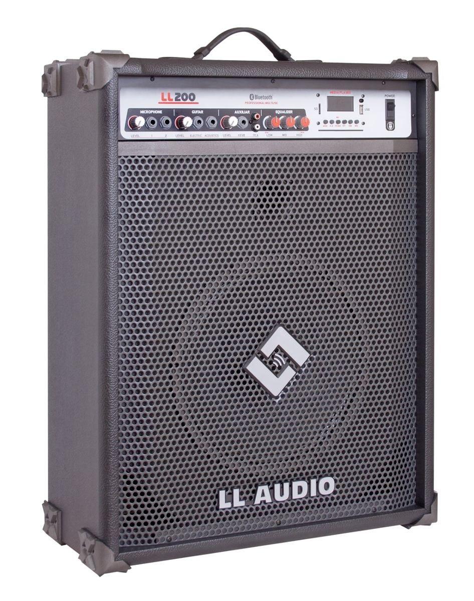 "Caixa de Som Amplificada Multi-uso 12"" LL200BT 50W RMS USB/BLuetooth"