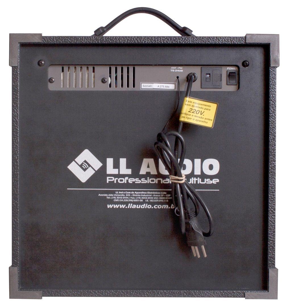 """Caixa Amplificada Multi Uso 8"""" 45W LL TRX8 Bluetooth, USB e Rádio"""
