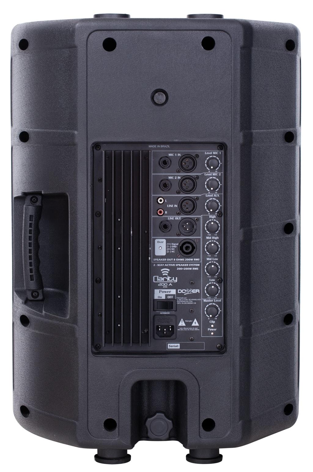"""Caixa de Som Ativa 12"""" Donner Clarity CL200A 200W RMS"""