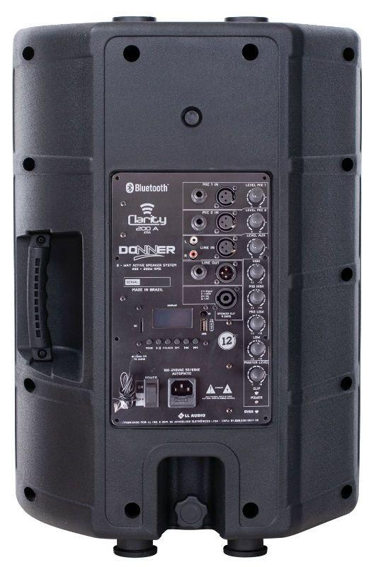"""Caixa de Som Ativa 12"""" Donner Clarity CL200A 200W RMS USB Bluetooth"""