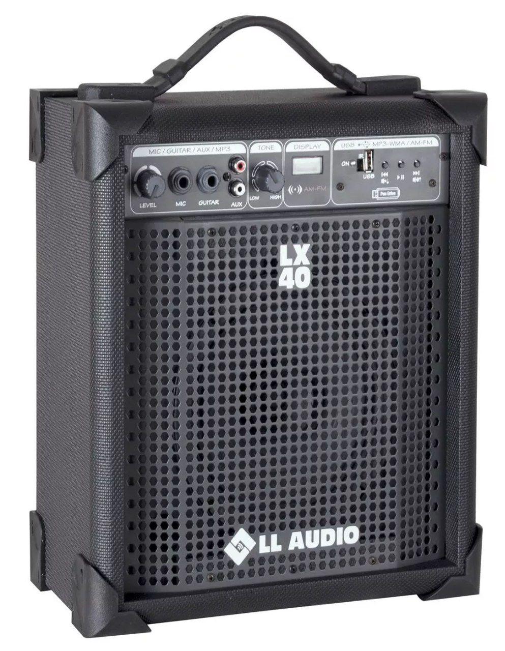Caixa de Som Amplificada LL 10W LX40FM FM e USB BIVOLT