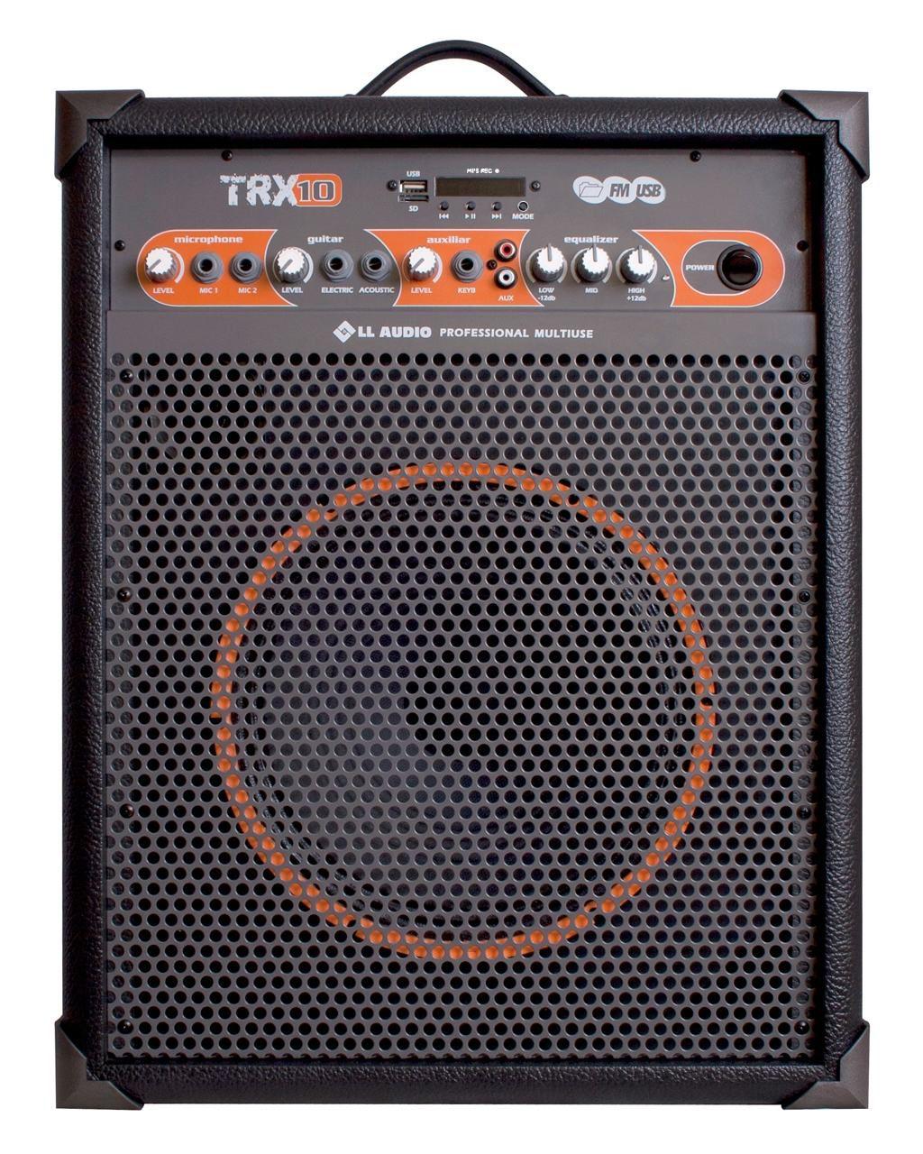 "Caixa de Som Amplificada Multiuso 10"" LL TRX10 USB Bluetooth"
