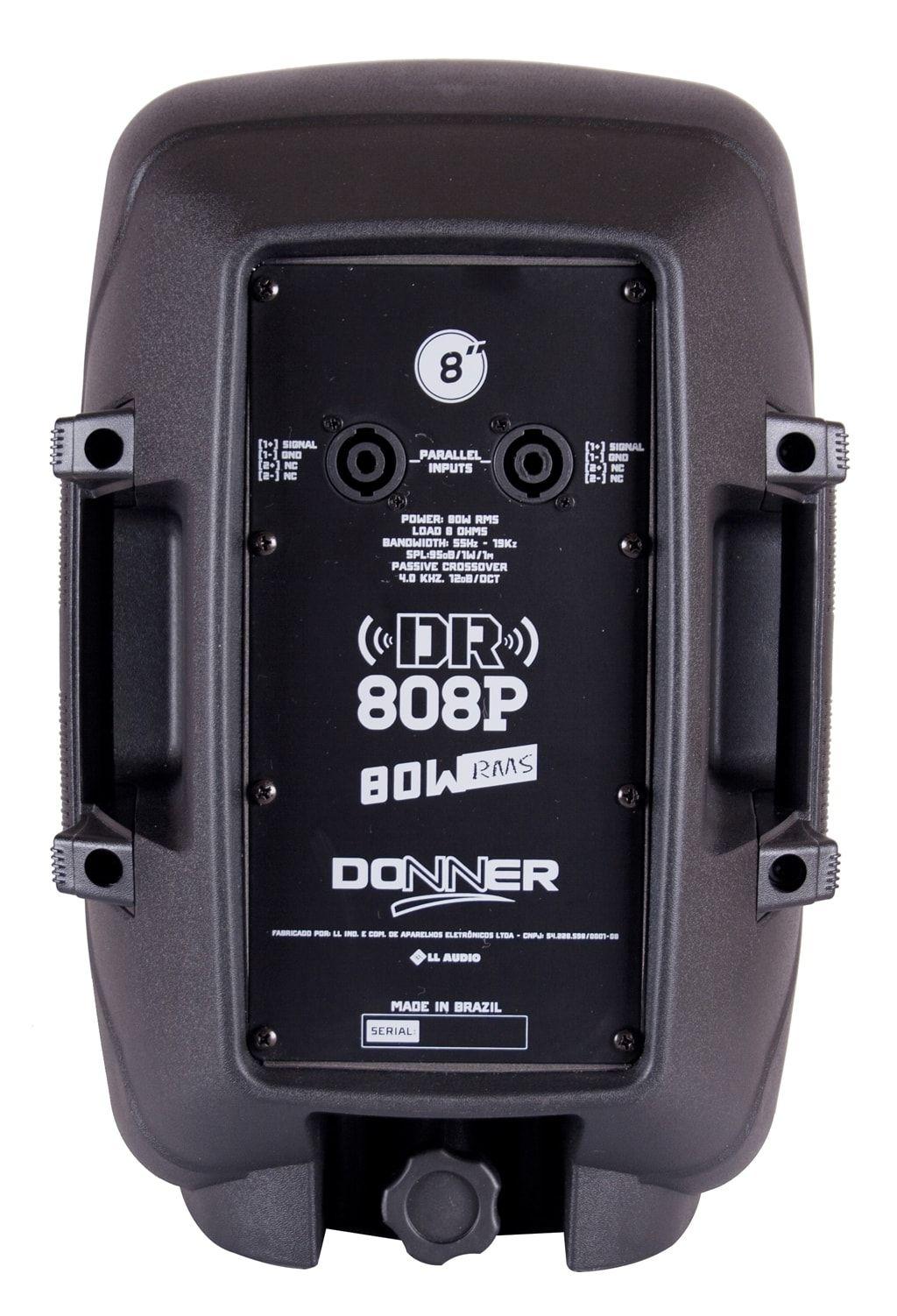 """Caixa de Som Passiva Donner DR808P 8"""" 80W RMS"""
