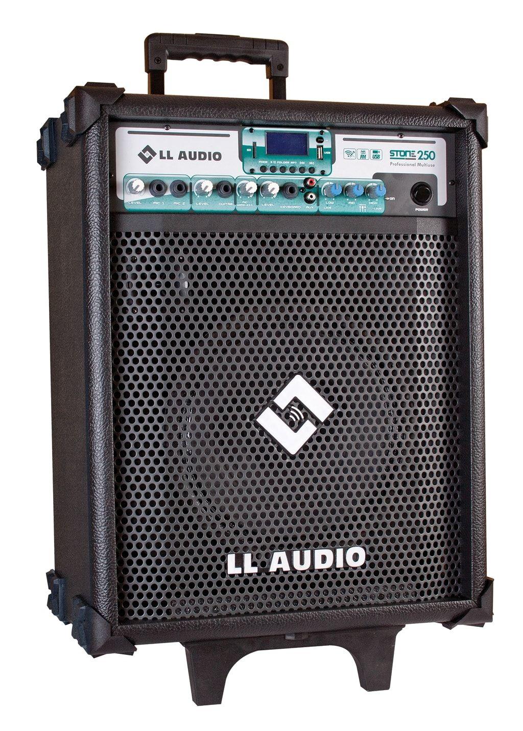 """Caixa de Som Amplificada 10"""" 60W Multi-Uso Stone-250 com Microfone e Bluetooth"""