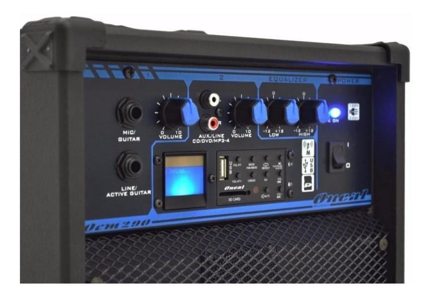 Caixa Multiuso Ativa Oneal 50W RMS OCM 290 USB SD FM Bivolt