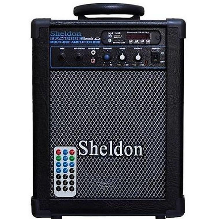 Caixa Multiuso Ativa Sheldon MAX 1000 15W RMS BT Bivolt