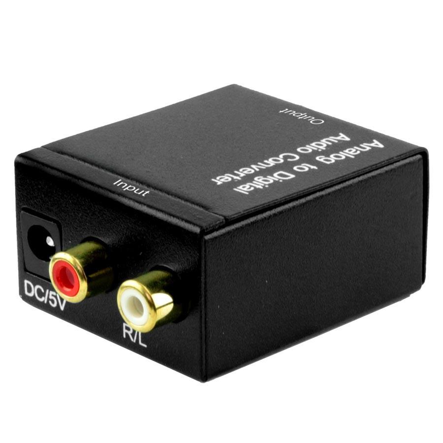 Conversor de Áudio PIX Analógico para Digital RCA X Óptico
