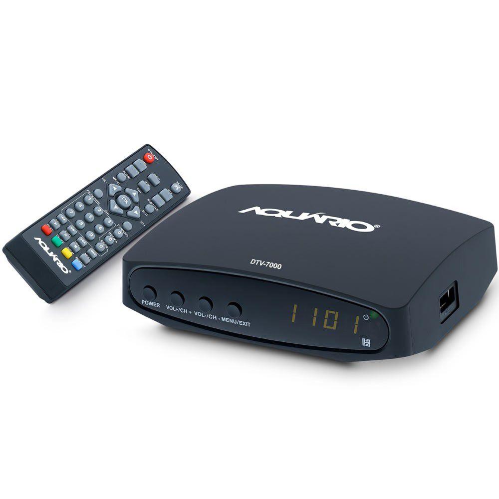 Conversor Digital e Gravador Aquário Full HD HDMI USB DTV-7000