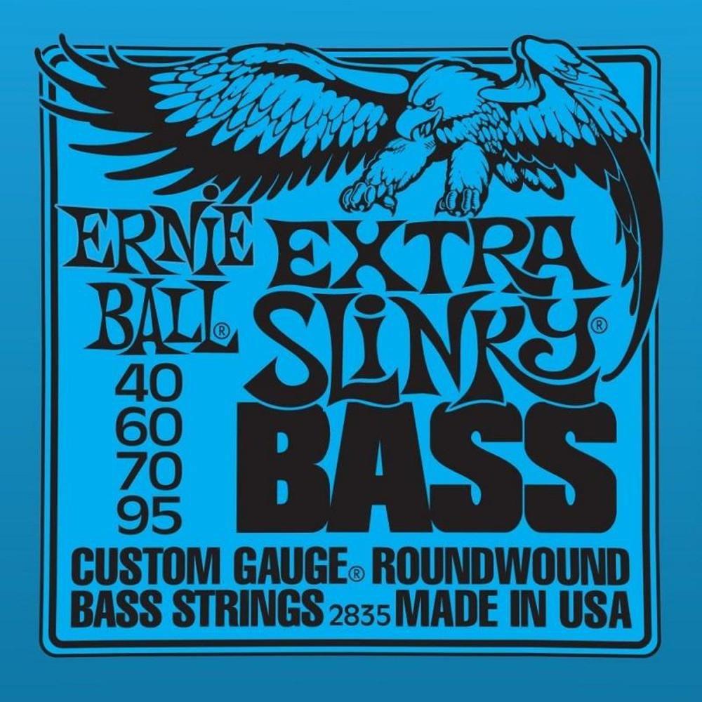 Encordoamento Contrabaixo 4 Cordas Ernie Ball 040 Extra Slinky