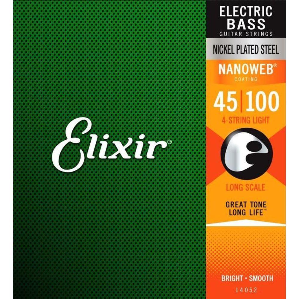 Encordoamento Contrabaixo 4 Cordas Elixir 045 Nanoweb Light