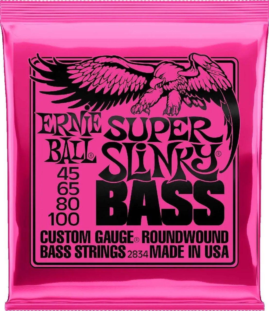 Encordoamento Contrabaixo 4 Cordas Ernie Ball .045-.100 Super Slinky 2834
