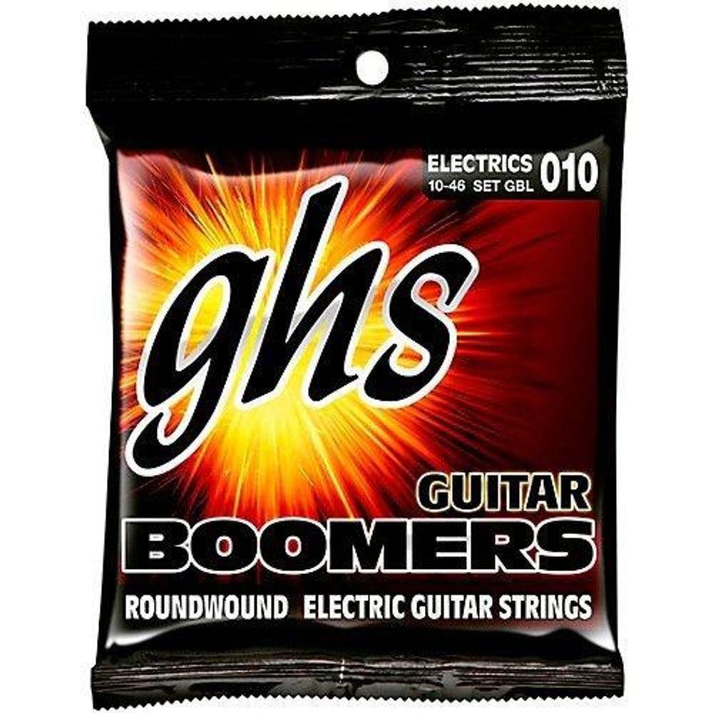 Encordoamento Guitarra 6 Cordas GHS Boomers 010 GBL