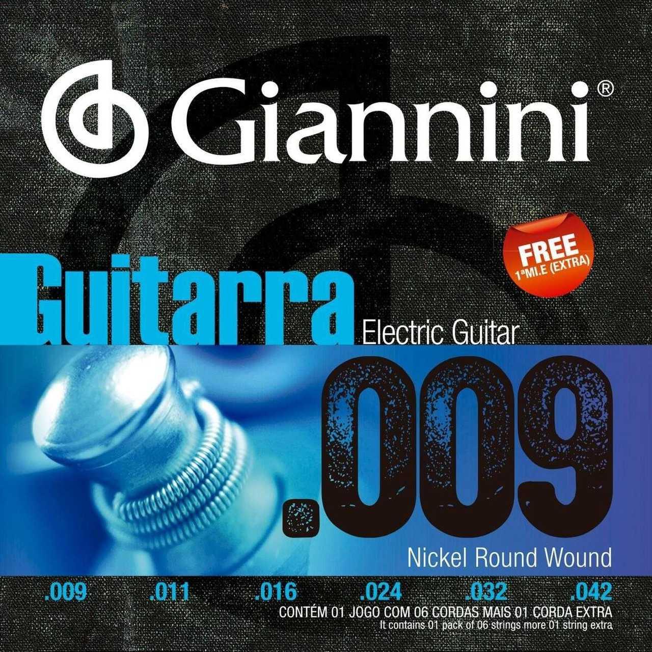 Encordoamento Guitarra Giannini 009 GEEGST9