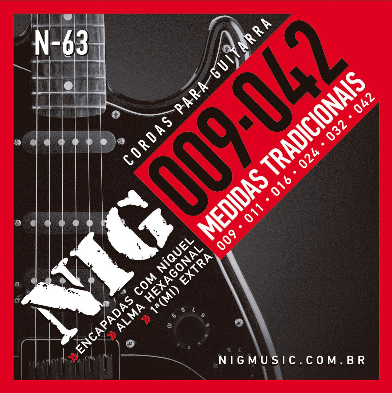 Encordoamento Guitarra Nig 009