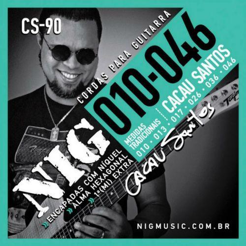 Encordoamento Guitarra Nig 010 Cacau Santos